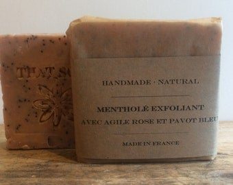 Handmade Soap, natural Soap, Vegan Soap, That Soap, Rose clay soap, Exfoliating Soap Peppermint Soap, Homemade Soap