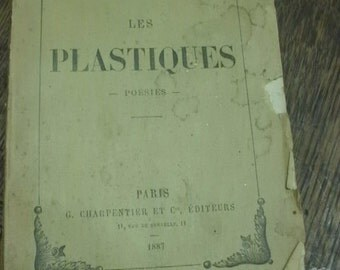 Free Shipping - Antique Poetry Book - French