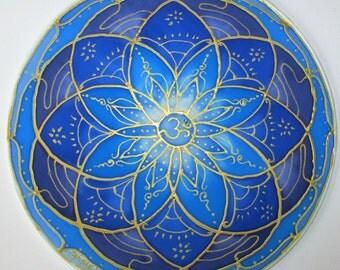 Blue chakra mandala art,spiritual gift,Throat chakra mandala, chakra mandala, chakra art, blue mandala, meditation, spiritual , reiki, yoga
