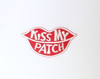 Vintage Kiss My Patch Lips Patch