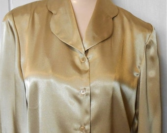 Black Friday Vintage, Blouse, Gold, Holiday, New Years, Shimmer, Bling, Size 4, 38 Bust, 1980s, Hollywood, Party Blouse, Gold Shimmer, Gold