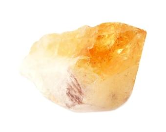 Raw Citrine Quartz Stone (36mm x 21mm x 16mm) - Tip Citrine - Rough Citrine - Citrine Point - Citrine Crystal