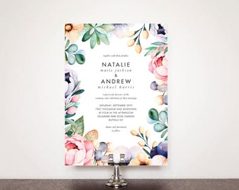Willowlawn Floral Wedding Invitation Suite
