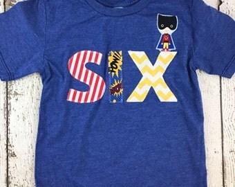 Superhero shirt, superhero party, Birthday Shirt, superhero party, pow, boys clothing, boys shirt, clothing, superhero invite