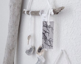 DRIFTWOOD SEA CHIMES Wall Art With Oyster Shells Seawashed Living Nordic Coastal Seaside Beach Bohemian Style
