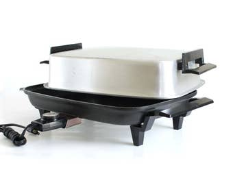 Lektro Maid Skillet Electric Frying Pan Miracle Maid 13669 Small Appliance (cutting board / tray optional)