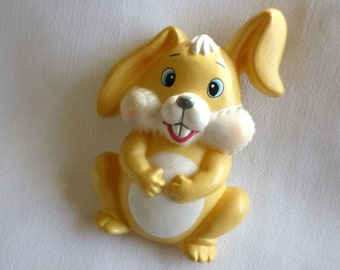 Vintage Bunny Rabbit  Pin Made in Hong Kong