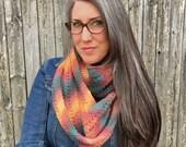 Knitting Pattern ~ Autumn Infinity Scarf ~ Knitting Pattern