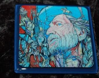 Willie Nelson Glass Coaster