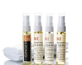 Face Oil Cleanser, Hydrating Chi Mist, Regenerating Serum (all 4ml) & Cloth 4 in 1 SAMPLE Pack