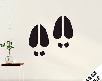 Large Deer tracks Wall Decal  - Vinyl Sticker