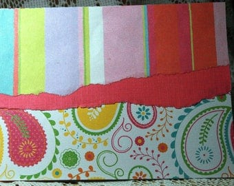Striped and Paisley Card for Any Occasion  20170080