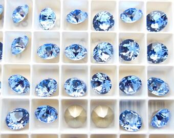 Swarovski 1088 Light Sapphire 39ss Crystal Chatons Foiled