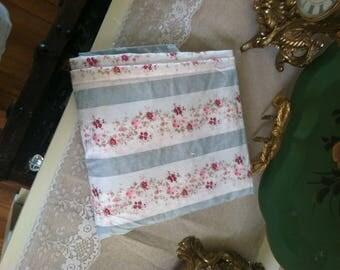 Rachel Ashwell fabric Ditsy Daisy Simply Shabby Chic light blue stripe with pink flowers Marie Antoinette blue stripe baby nursery