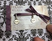 10, 9 mm silver tone round hand stamped tags