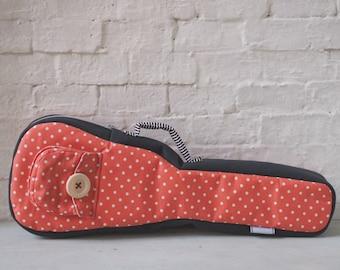 Concert ukulele case - Polka dots - ukulele bag (Ready to ship)