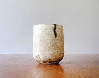 Vintage Ceramic Studio Pottery Cup / Mug / Vase / Pen Holder Wabi Sabi
