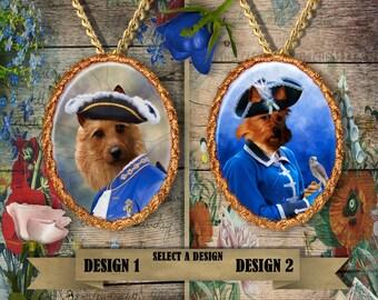 Australian Terrier - Jewelry - Pendant - Brooch – Dog Jewelry - Dog Pendant – Dog Brooch - Handcrafted Porcelain By Nobility Dogs