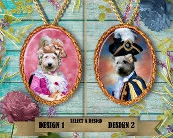 Glen of Imaal Terrier Jewelry.  Glen of Imaal Terrier Pendant or Brooch.  Glen of Imaal Terrier Necklace.  Glen of Imaal Terrier Portrait.