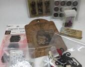 Tim Holtz vintage supplies, Graphic 45 supplies, metal scrapbook supplies