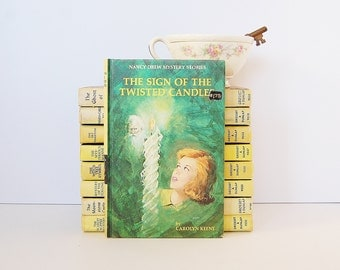 Nancy Drew Book, The Sign of The Twisted Candles by Carolyn Keene, Kids Mystery Books