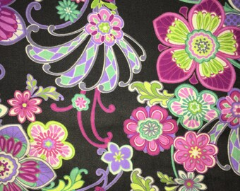 Purple Floral Fabric by the Yard