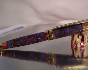 Designer Euro Twist Pen/ Lavender Alder Cones/ Stylus