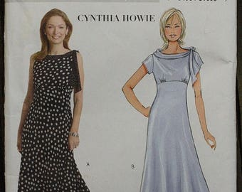 60off Sale Butterick 4508 Cynthia Howie Style Draped Dress Sewing Pattern Size 16-18-20-22 Bust 38-40-42-44 plus size