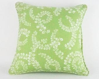 "Indoor/Outdoor Welted Throw Pillow Cover Lime Green 16"" x 16"""