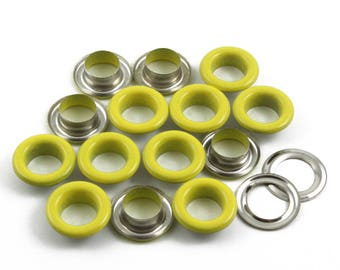 Size: 14*8*5mm (OD * ID * Height) Yellow Round Eyelet Grommet (YELLOW-RG14)