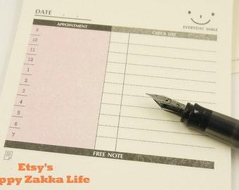 Journaling Spot - Desk Memo Pad - Daily Plan & Check List - 60 sheets