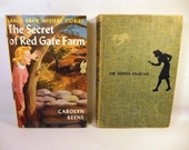 Vintage NANCY DREW Books / Lot of 2 / The Hidden Staircase 1930 / The Secret of Red Gate Farm 1961 / Mystery - Detective
