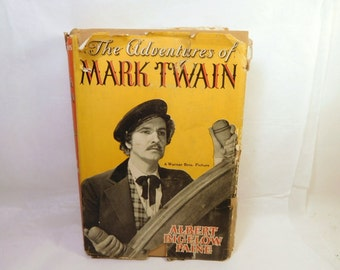 The Adventures of MARK TWAIN - Book Albert Bigelow Paine - Vintage War Time Issue Book