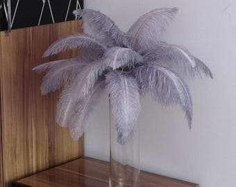 100 6-18inch Ostrich Feather  Wedding Decor Table Centerpiece Feather Centerpiece 30 colors ostrich feather Silver