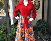 Vintage 1970's Montgomery Ward Hostess Pajamas - Size 14
