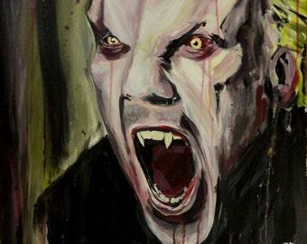 "The LOST BOYS David Original Painting - 20"" x 30"" Acrylic on Canvas / Keifer Sutherland"