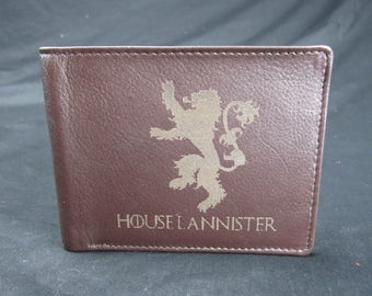GAME of THRONES House Lannister Premium Leather Wallet