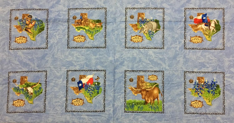 Texas Trail Moda Panel Cotton Quilt Fabric 11310 14 Sky