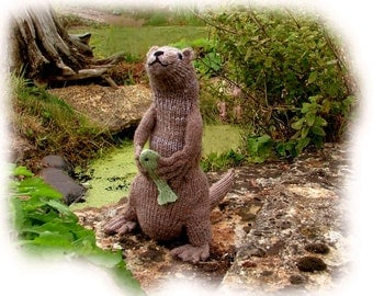 MR OTTER  toy knitting pattern by Georgina Manvell