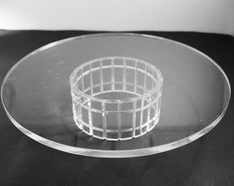 Lucite Pedestal Cake Plate