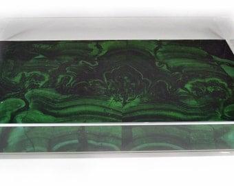 Acrylic Tray / Malachite Insert