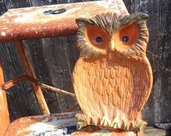 Vintage Ceramic Owl Spoon Rest (Fine Quality Lego Japan)
