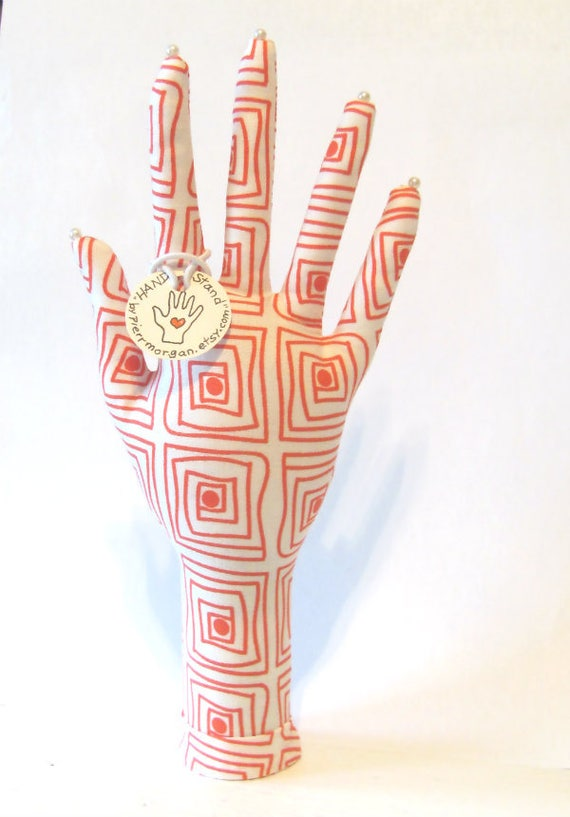 OpArt Square Fabric HAND-Stand Jewelry Display Ready to Ship