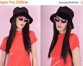 BLACK FRIDAY SALE 90s Black Velvet Bucket Hat