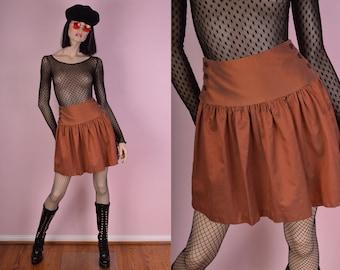 80s Iridescent Copper Skirt/ US 5/ 1980s