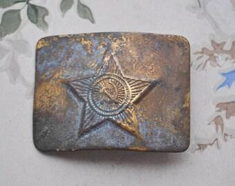 Vintage Soviet Army brass belt buckle.