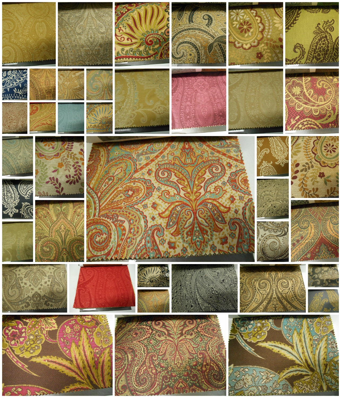 Fabricut Fabric Sample Book Upholstery Fabric Samples 53pcs W 10 X 1 2 L Paisley Studio
