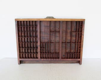 Hamilton Printers Drawer Shadow Box Antique Wood Letterpress Display Case Miniatures