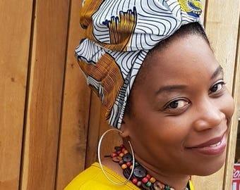 Bintu yellow headwrap by Gitas Portal