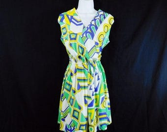 Spring Fling Sale Vintage 70s Emilo Pucci style abstract print mini dress